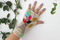 Beige knitted gloves, cream knitted, beige gloves handmade, hand-knitted gloves camel, young girl gift, Christmas gift option