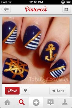 Totally wanna do these for my cruise nails!