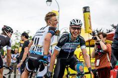 Marcel Kittel and Tony Martin having a laugh before the stage start TDF 2014 Etape 8