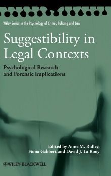 July 2013 Forensic Psychology Book of the Month - Suggestibility in Legal Contexts: Psychological Research and Forensic Implications By Anne M. Ridley, Fiona Gabbert & David J. La Rooy. Click image or see following link for details of this and all the #ForensicPsychology book of the month entries.   http://www.all-about-forensic-psychology.com/forensic-psychology-book.html