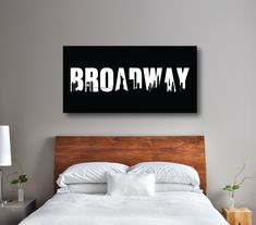 Do you dream of being on Broadway someday? If so, this canvas will give you a daily reminder of your dreams and goals! It will look perfect in any thespian's bedroom or dorm room. You can customize it with the colors of your choice or choose the black and white colors shown. This unique, custom wall art would make the perfect Christmas present or birthday gift for any boy or girl who loves music theatre or theatre.