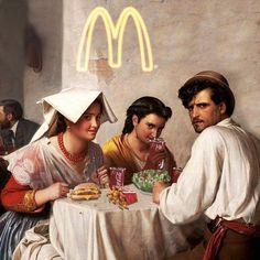 Classical Art Memes, Mode Poster, Photo Food, Street Art London, Art Jokes, Psy Art, Photocollage, Jolie Photo, Arte Pop