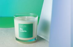 Green Tea & Spearmint By Laura candle.