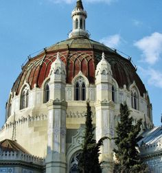 *SPAIN ~ Neo-Byzantine dome of the Church of San Manuel and San Benito in Madrid, Byzantine Architecture, Religious Architecture, Art And Architecture, San Bernardo, Cathedral Church, Church Building, Amazing Buildings, World Cities, Spain And Portugal