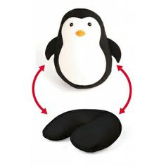 Penguin Travel Pillow.  You can change your penguin to a comfy pillow or your pillow to a cuddly penguin! #68840165   24.95