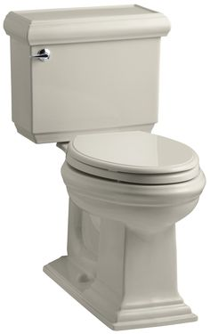 KOHLER Memoirs Stately Comfort Height Two Piece Elongated GPF Toilet With  AquaPiston Flush Technology And Left Hand Trip Lever, White Kohler