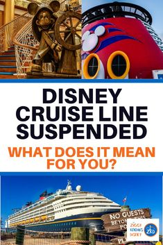 Breaking News: Disney Cruise Line has officially suspended all cruises through the end of the month. What does this mean for you and your family? I break down the next steps, how to proceed, and what you should think about moving forward into April. Disney Dream Cruise, Disney Cruise Ships, Disney Rides, Disney Vacation Planning, Disney World Planning, Family Vacation Destinations, Disney World Vacation, Family Vacations, Cruise Vacation