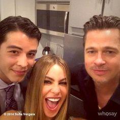 Sofía Vergara se tomó un selfie con Brad Pitt y su hijo, Manolo.   15 Instagrams de famosos que tal vez te perdiste esta semana