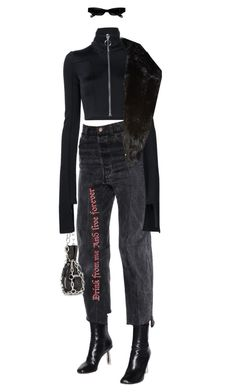 """""""#479"""" by moofka ❤ liked on Polyvore featuring Vetements, Alexander Wang, Off-White, Acne Studios and BCBGeneration"""