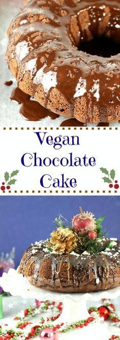 Ring in your New year with this Eggless Chocolate Cake that is rich, moist, and delicious! This cake has fudge sauce all swirled over it, which makes it flavor-rich and ah-mazing. Perfect for any celebration!