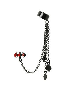 DC Comics Harley Quinn Batman Cuff Earring | Hot Topic