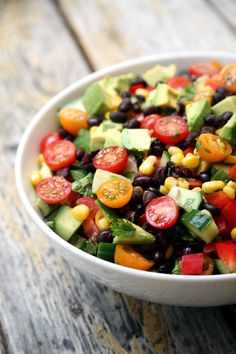 Cucumber, Black Bean, Corn, Tomato, and Avocado Salad | POPSUGAR Fitness...