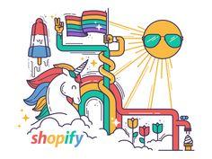 Shopify Pride by Meg Robichaud #Design Popular #Dribbble #shots