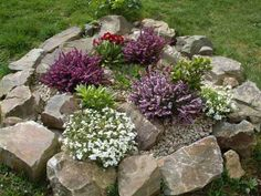 yard rock garden small