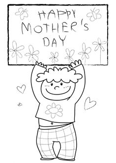 Mother's Day coloring page for kids!