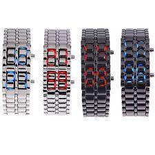 Sport Lava Iron Samurai Red/Blue LED Digital Wrist Watch Men/Women Unisex Option