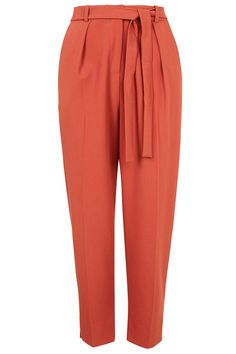PETITE Belted Crepe Peg Trousers - Topshop