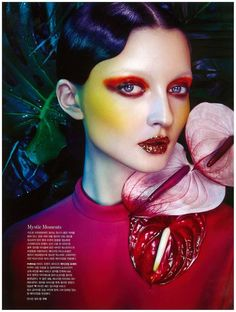 Beetle-Hued Beauty Editorials : beauty editorial makeup smoky eye beetle colors