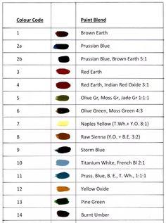 The Hindeloopen Folk Art, color chart