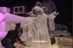 Festival de Esculturas no Gelo de Liège homenageia a saga Star Wars