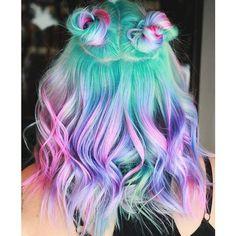 haare Buntes Haar Can Hair Dye Cause Cancer? Cute Hair Colors, Pretty Hair Color, Beautiful Hair Color, Hair Dye Colors, Hair Color Dark, Crazy Hair Colour, Pastel Colors, Pastel Mint, Pastel Rainbow Hair