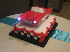 - This was a grooms cake I made for a huge Corvette fan. Everything is edible but the lights.