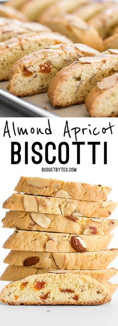 Fresh homemade Almond Apricot Biscotti are pennies a piece and can be stored in the freezer, ready for dunking at any time.
