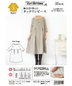 Linen Apron Dress, Linen Dress Pattern, Tunic Pattern, Dress Sewing Patterns, Clothing Patterns, Linen Dresses, Sewing Clothes, Diy Clothes, Japanese Sewing
