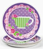 I never use paper plates in the tea parlor, but these are so cute!