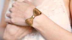 Modeled Chain Mesh Bow Bracelet >> Pretty!