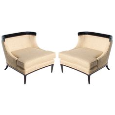 Pair of Tomlinson Sophisticates Collection by Lubberts and Mulder Slipper Chairs ca.1959   From a unique collection of antique and modern slipper chairs at http://www.1stdibs.com/furniture/seating/slipper-chairs/