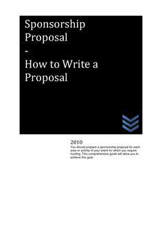 How to write a media sponsorship proposal