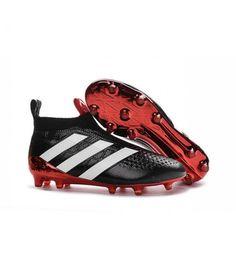 Acheter Adidas Ace16+ Purecontrol FG/AG Chaussures de Football Pour Homme  Noir Rouge Blanc pas
