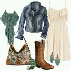 Love the dress and boots