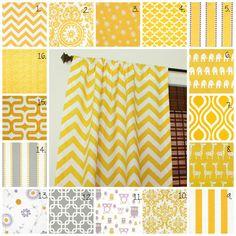 Curtain Panels Set Corn Yellow Drapes Corn by TwoDreamsatHome