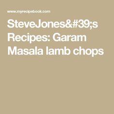 SteveJones's Recipes: Garam Masala lamb chops