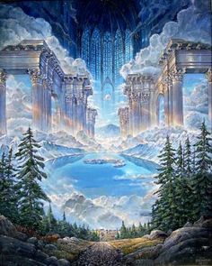 John Stephens Reflections On A Mountain Lake Ii - Southwest Gallery: Not Just Southwest Art.