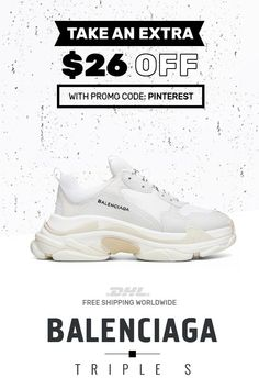brand new 1c4e3 db51b For sale authentic Balenciaga Triple S Trainers White trainers  sneakers   fashion  shoes
