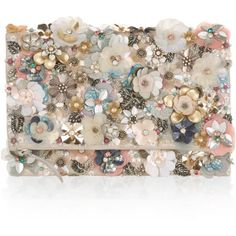 Glimmering embellishments in the form of sequins, beads and crystal gems lend our Katrina clutch bag an occasion-ready feel. In a fold-over silhouette, this . Embellished Purses, Beaded Purses, Beaded Bags, Floral Clutches, Floral Bags, Sequin Clutches, Flower Bag, Beaded Clutch, Handmade Bags