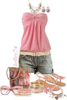 """Pink Poppie"" by kelley74 on Polyvore"
