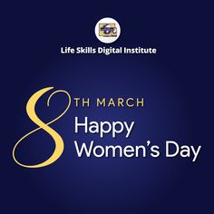 Happy Women's Day Happy Woman Day, Happy Women, Happy Day, Ladies Day, Life Skills, Company Logo, Posts, Digital, Messages