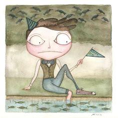 """Diego Menti - """"Happy 2016"""" - Acquerello su carta di cotone"""