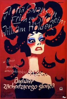 """Norma Desmond: """"All right, Mr. DeMille, I'm ready for my close-up""""  Diseñador: Waldemar Swierzy, 1957"""