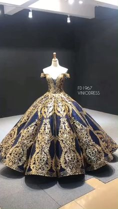 Luxury Red Couture Prom Dresses Gold Princess Quinceanera Dress Navy blue and gold sequin sparkly ball gown prom dress. Off the shoulder quinceanera dresses. Related posts:They are beautiful, lovable. Sweet 15 Dresses, Pretty Prom Dresses, Elegant Dresses, Homecoming Dresses, Gold Quinceanera Dresses, Sexy Dresses, Summer Dresses, Formal Dresses, Wedding Dresses