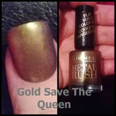 Rimmel metal rush in Gold save the queen