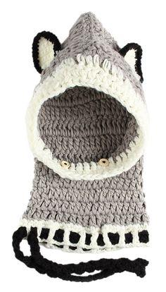da324add983 La Vogue Winter Baby Kids Warm Woolen Coif Hood Scarf Caps Hats Grey.  Material