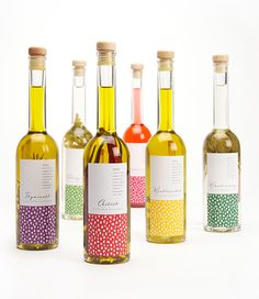 Die kleinen Gespenster on Behance assorted flavorful oils and matching packaging. PD