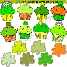 Clip Art St. Patrick's Day Sweets product from ClipArtStand-by-Tina-Anne on TeachersNotebook.com