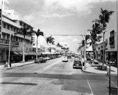 Florida Memory - Lincoln Road looking east from Pennsylvania Avenue - Miami Beach, Florida