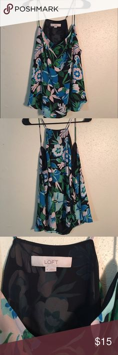 Loft Cami Blouse Great, flowy top with a fun floral print! LOFT Tops Camisoles
